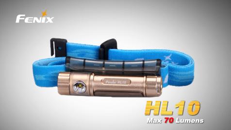 Čelovka Fenix HL10 - zlatá