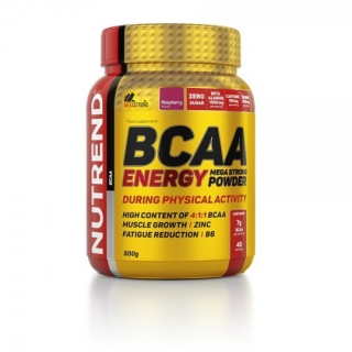 NUTREND BCAA ENERGY MEGA STRONG POWDER 500G MALINA